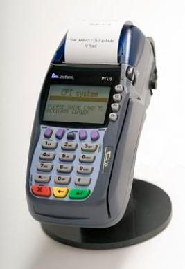 Self service credit card terminal for copies and prints